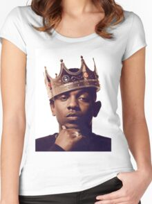 "Kendrick Lamar - ""The king"" Women's Fitted Scoop T-Shirt"