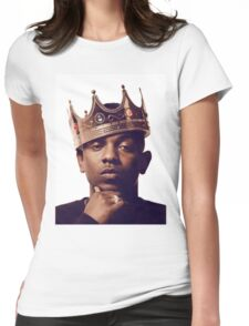 """Kendrick Lamar - """"The king"""" Womens Fitted T-Shirt"""