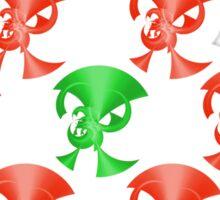 Green Horn Red Horns Sticker