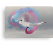 Spiralling Red Arrows Canvas Print