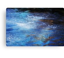 Deep Blue Diving 2 Canvas Print