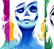 Day of the Dead Mini Paintings by MissCarissaRose