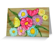 Bouquet~Alcohol Ink Design Greeting Card