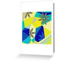 Floral Fusion - Green Greeting Card