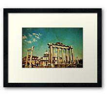 Temples of Saturn & Vespasian, Rome Framed Print