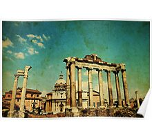 Temples of Saturn & Vespasian, Rome Poster