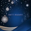 BLUE CHRISTMAS CARD 1 by Michael Beers