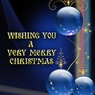 BLUE CHRISTMAS CARD 3 by Michael Beers