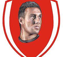 Santi Cazorla Arsenal footballer by ArsenalArtz