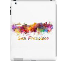 San Francisco skyline in watercolor iPad Case/Skin