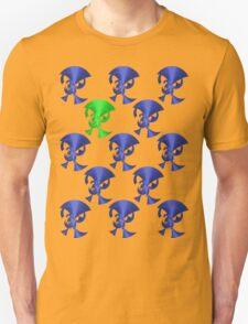 Green Horn Blue Horns Unisex T-Shirt