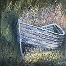 Grey Boat, Port Mulgrave by Sue Nichol