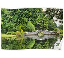 Bridge over calm waters Poster