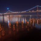 The Moon over the Bay Bridge by MattGranz
