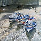 View From The Bridge, Staithes by Sue Nichol