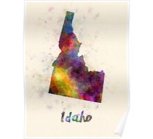 Idaho US state in watercolor Poster