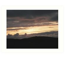 Honey sunset - Donegal Ireland Art Print