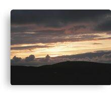 Honey sunset - Donegal Ireland Canvas Print