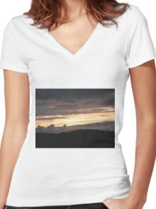 Honey sunset - Donegal Ireland Women's Fitted V-Neck T-Shirt