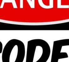 CODER NEEDS FOOD, FUNNY FAKE SAFETY SIGN SIGNAGE Sticker