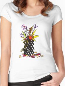 Vibrant Spray Women's Fitted Scoop T-Shirt
