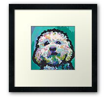 Poodle Maltipoo Dog Bright colorful pop dog art Framed Print