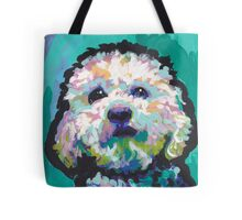 Poodle Maltipoo Dog Bright colorful pop dog art Tote Bag