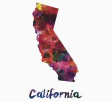 California US state in watercolor T-Shirt