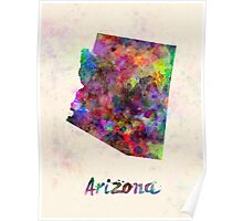Arizona US state in watercolor Poster