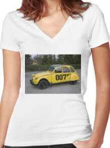 Citroën 2 CV 1981 Special Edition 007 Women's Fitted V-Neck T-Shirt