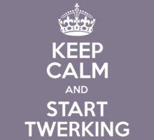 Keep calm and start twerking Kids Clothes