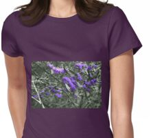 Purple Coral Pea (hardenbergia violacea) Womens Fitted T-Shirt