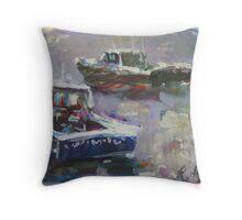 Lobster Catchers Throw Pillow