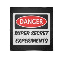 SUPER SECRET EXPERIMENTS, FUNNY FAKE SAFETY SIGN SIGNAGE Scarf