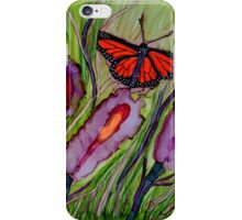 Flower Pops and Flutterbyes~Alcohol Ink Design iPhone Case/Skin
