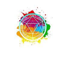 Funky Icosahedron Photographic Print