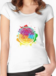 Funky Icosahedron Women's Fitted Scoop T-Shirt
