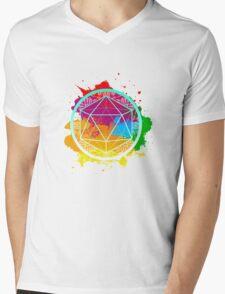 Funky Icosahedron Mens V-Neck T-Shirt