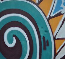 Murales in the wall -The perfect spiral- by contemod