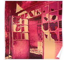 Old factory on IR film - Vieja fábrica con película infraroja Poster