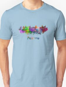 Palermo skyline in watercolor T-Shirt