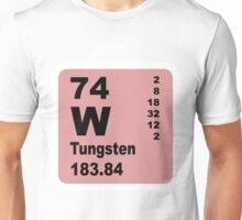 Tungsten periodic table of elements Unisex T-Shirt