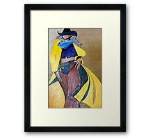 Yellow Slicker, Black Hat Framed Print