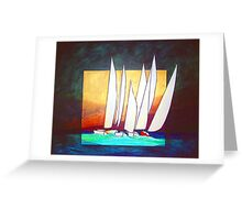 The Red Sailboat Greeting Card
