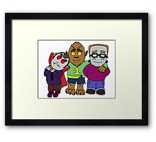 And you thought your kids were little monsters. Framed Print