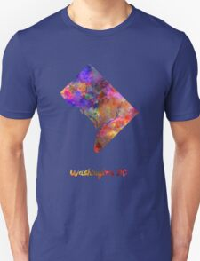 Washington DC US state in watercolor T-Shirt