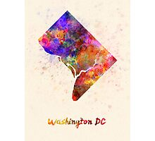Washington DC US state in watercolor Photographic Print