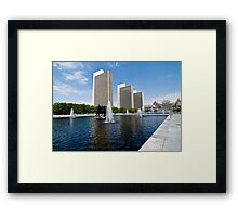 The Capital Plaza Framed Print