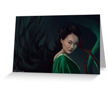 Witch from 47 ronin Greeting Card