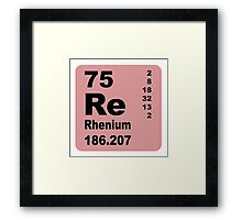 Rhenium periodic table of elements Framed Print